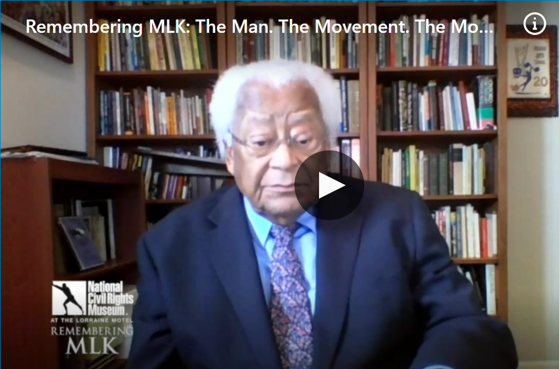 National Civil Rights Museum Remembering MLK at their April 4th Commemoration featuring a conversation with Reverend James Lawson