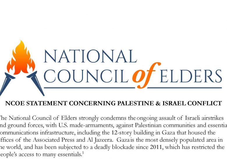 NCOE STATEMENT CONCERNING PALESTINE & ISRAEL CONFLICT